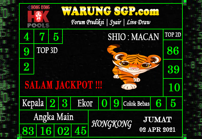 Warung Syair Hongkong 02 April 2021