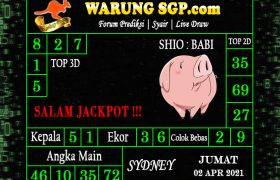 Warung Syair Sydney Hari ini 02 April 2021