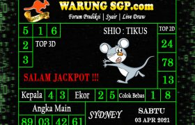 Warung Syair Sydney Hari ini 03 April 2021