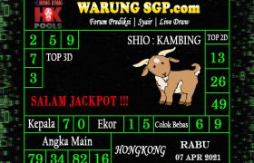 Warung Syair Hongkong 07 April 2021