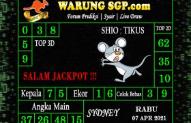 Warung Syair Sydney Hari ini 07 April 2021