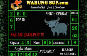Warung Syair Sydney Hari ini 08 April 2021