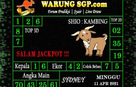 Warung Syair Sydney Hari ini 11 April 2021