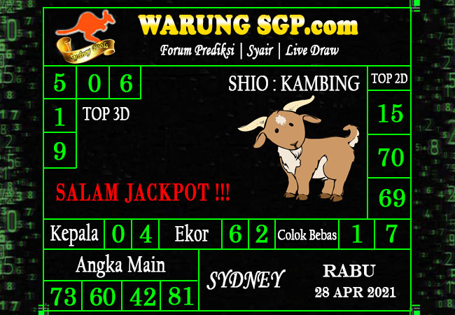 Warung Syair Sydney Hari ini 28 April 2021