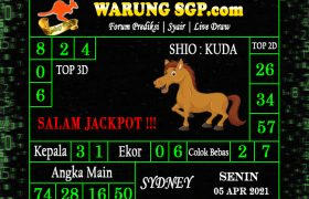 Warung Syair Sydney Hari ini 05 April 2021